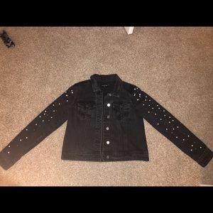 COPY - Bebe Jean jacket with pearls